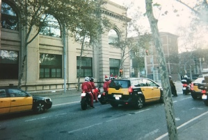 Saw a bunch of Santas