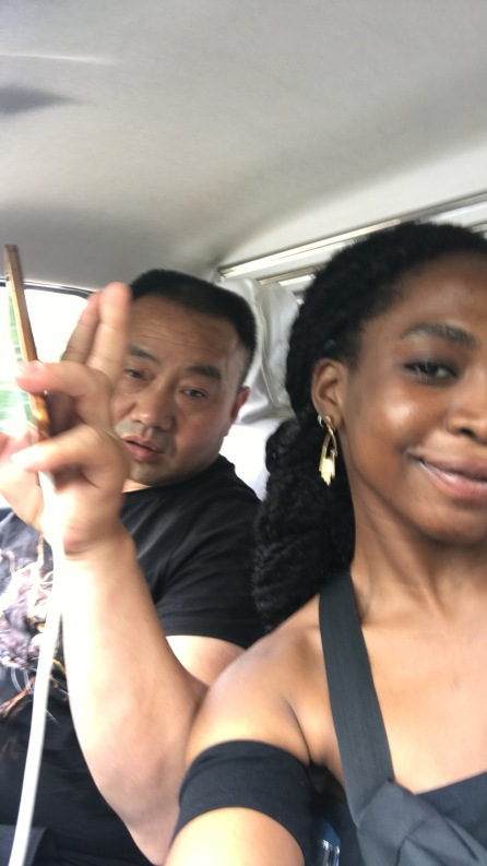 With the driver